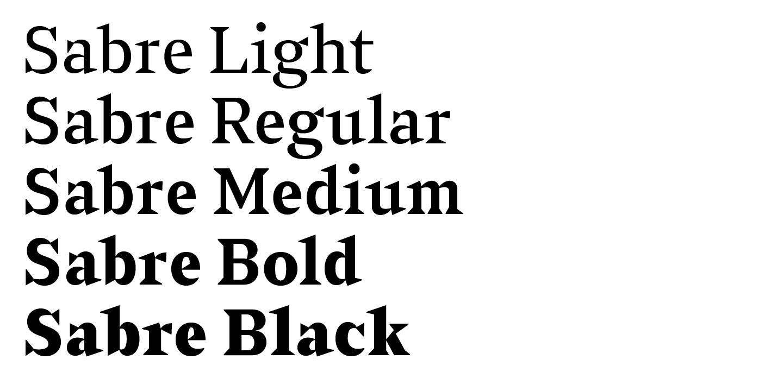 Sabre – Typographica