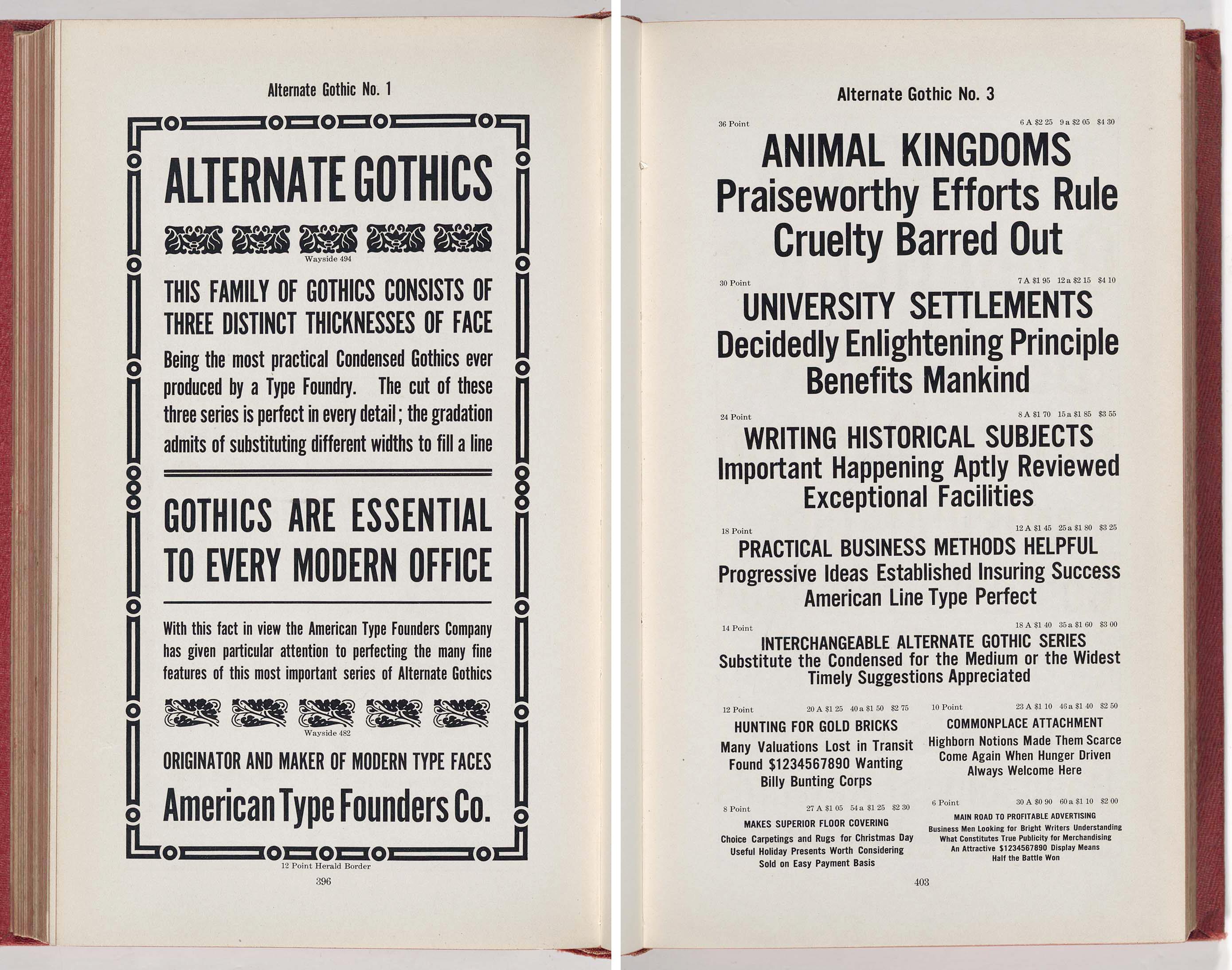 ATF Alternate Gothic – Typographica