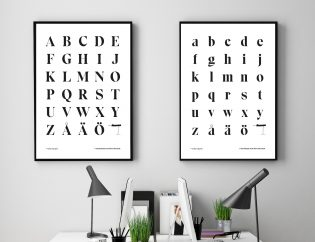 Eksell Display alphabet posters