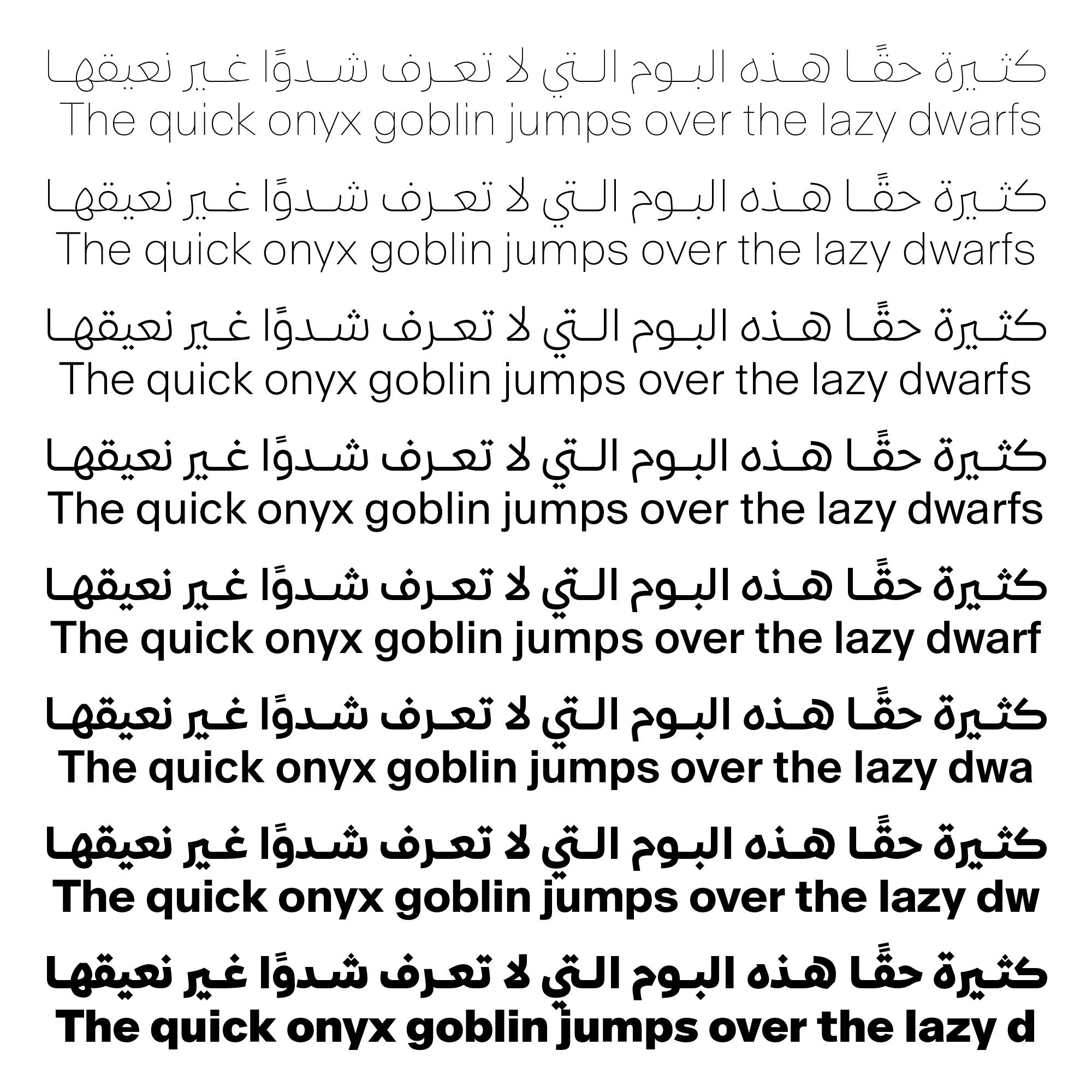 Suisse Int'l Arabic – Typographica