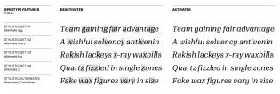 Algebra Italic alternates