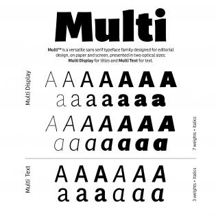 Multi fonts