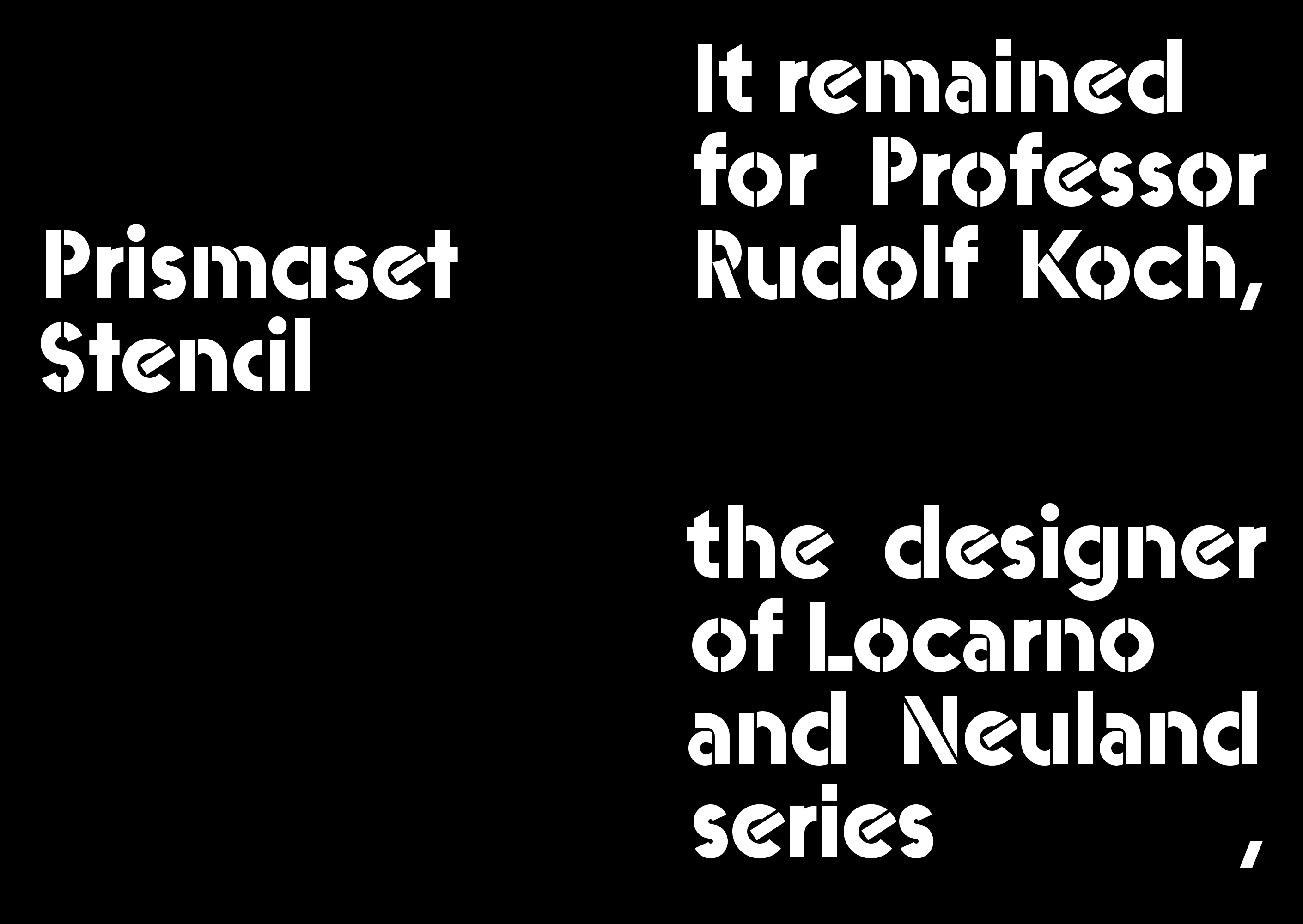 Prismaset – Typographica