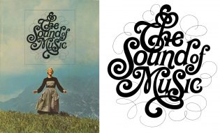 Tom Carnase lettering for Sound of Music
