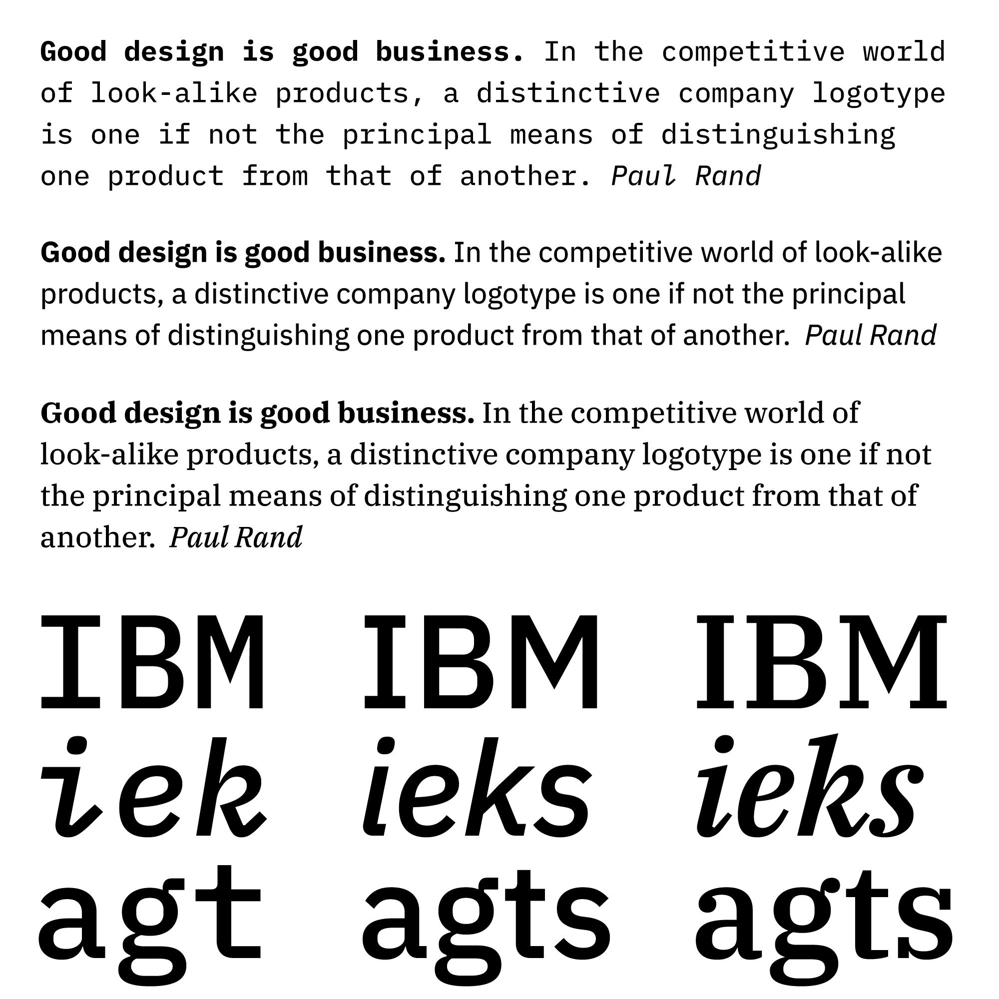 IBM Plex – Typographica