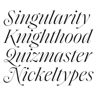 Saol Display Italic swashed capitals