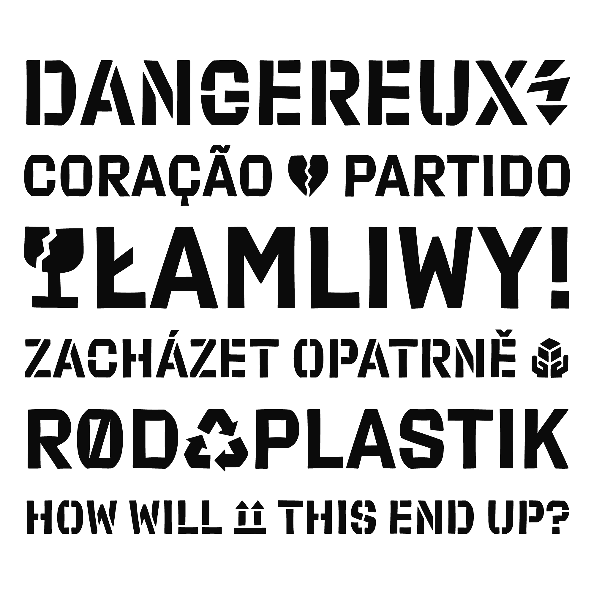 Export typeface specimen