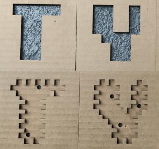 3D cardboard laser cutout by Lauren Dreier
