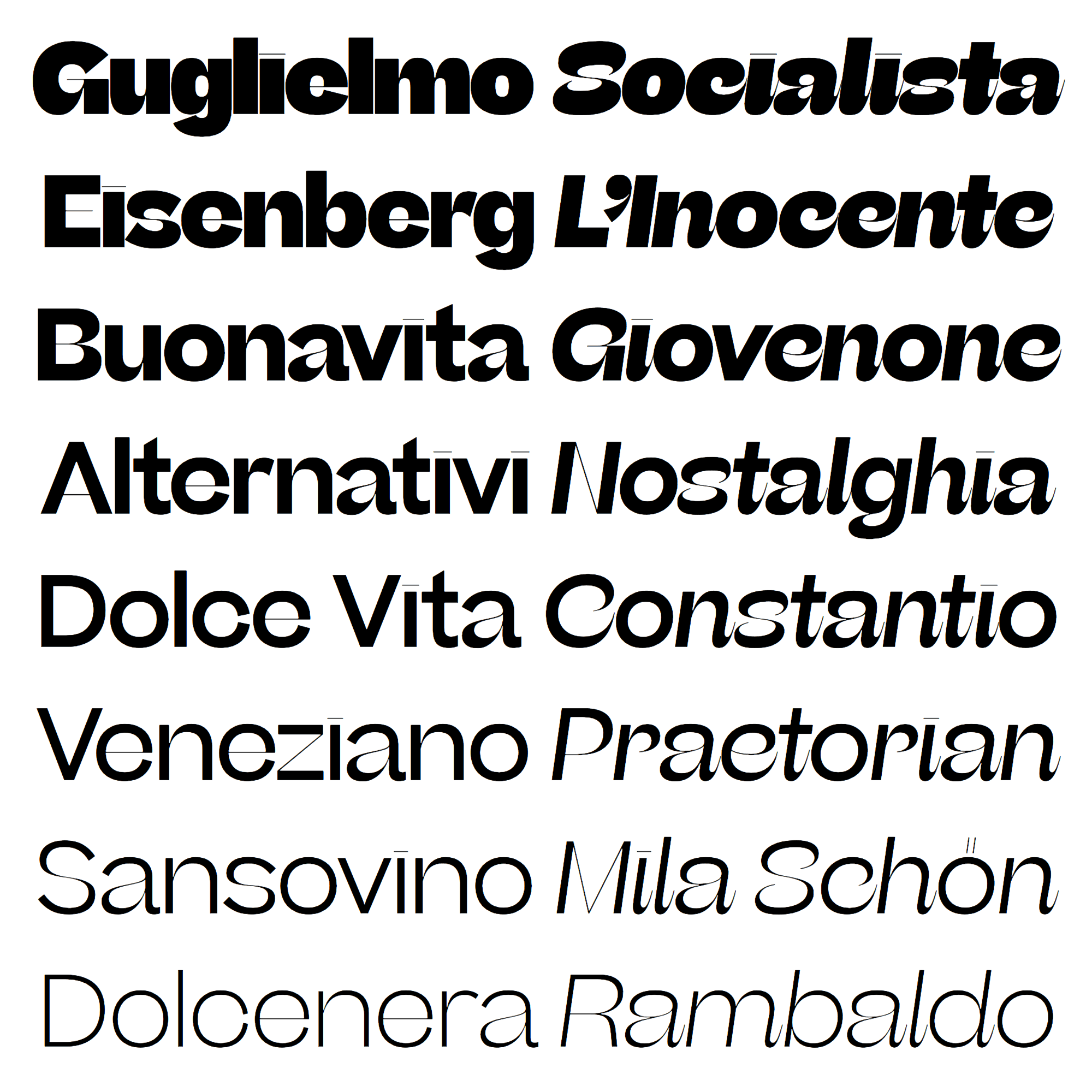Beatrice Display fonts specimen