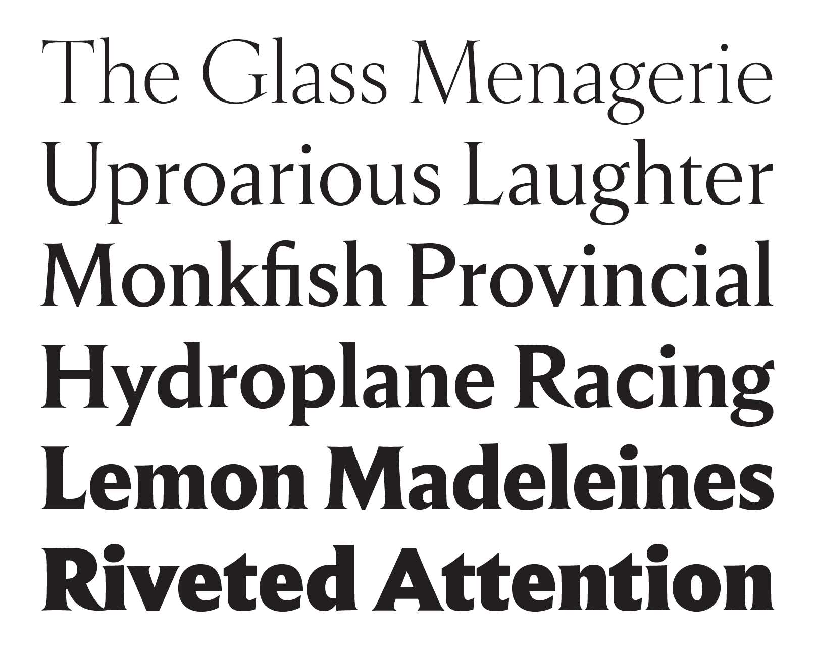 Empirica fonts specimen