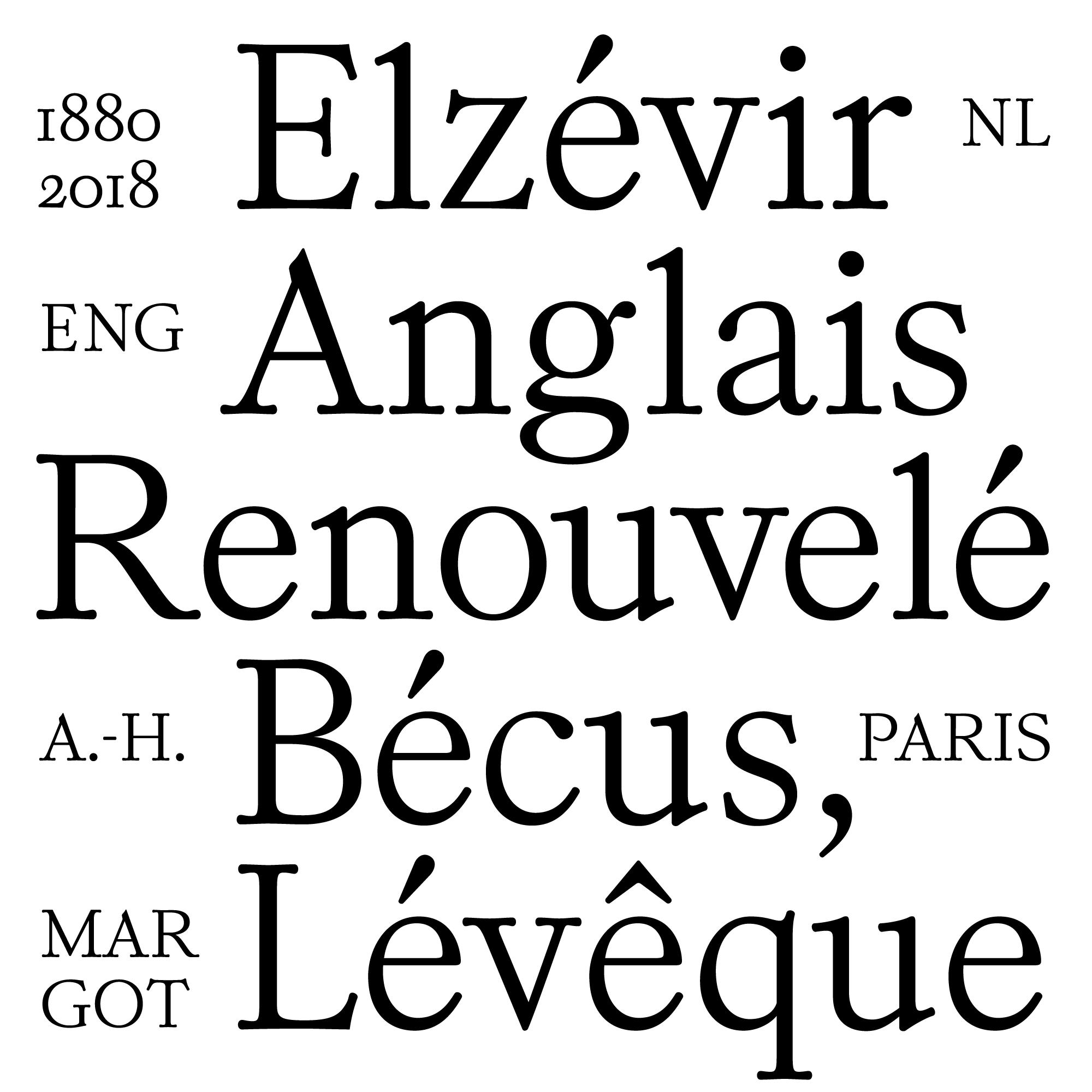 Kalice font specimen