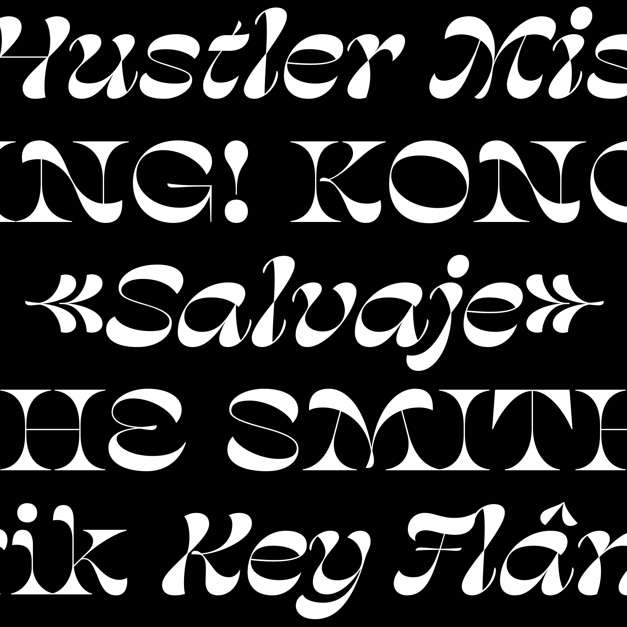 Salvaje fonts specimen