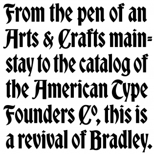 Bradley DJR fonts