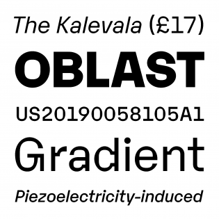 Karelia fonts specimen