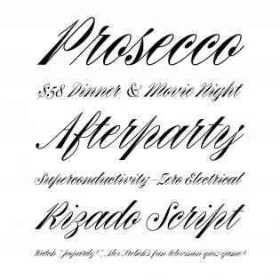 Rizado Script fonts
