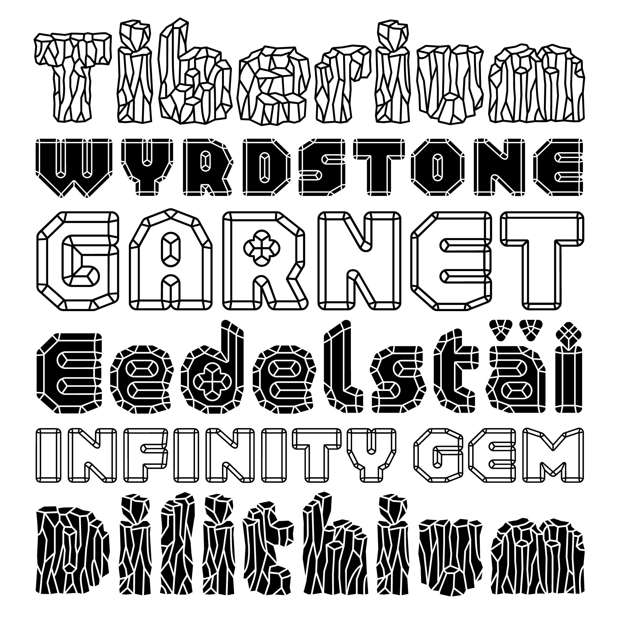 Schijn fonts specimen