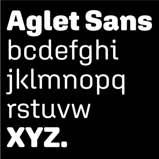 Aglet Sans fonts