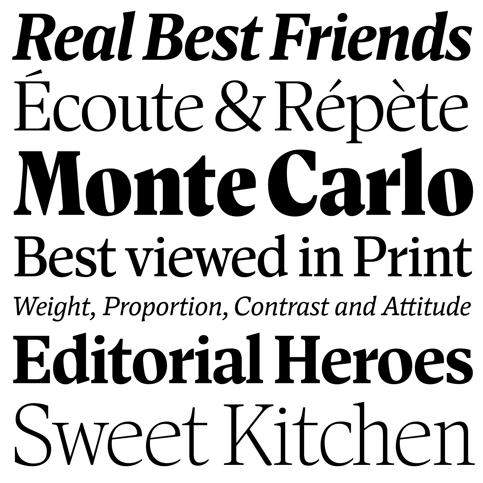 Antonia fonts specimen