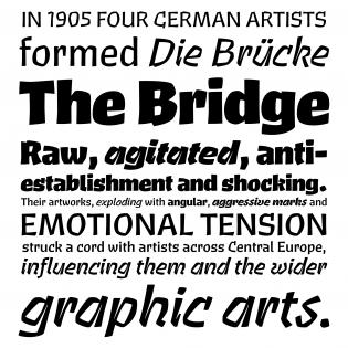 Brucker fonts specimen