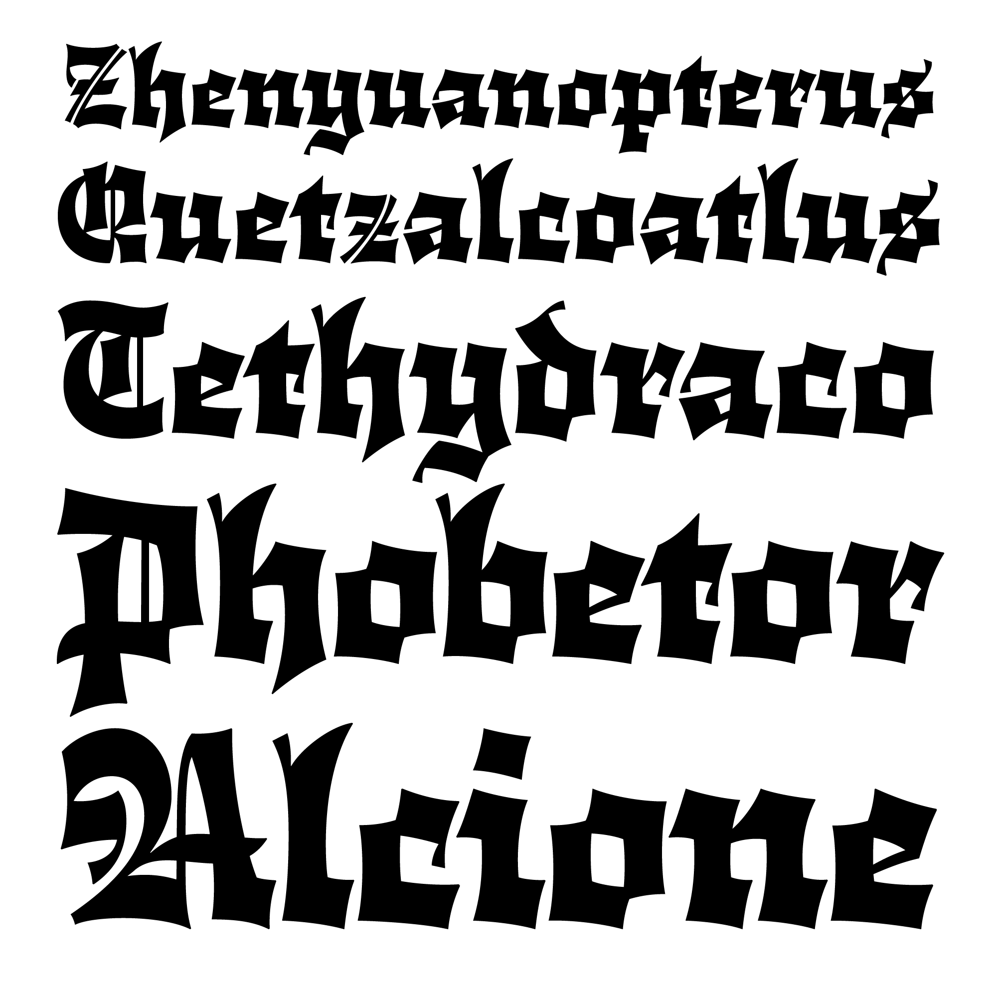 Cloisterfuch fonts