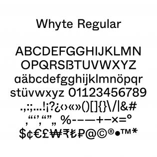 Whyte basic glyph set