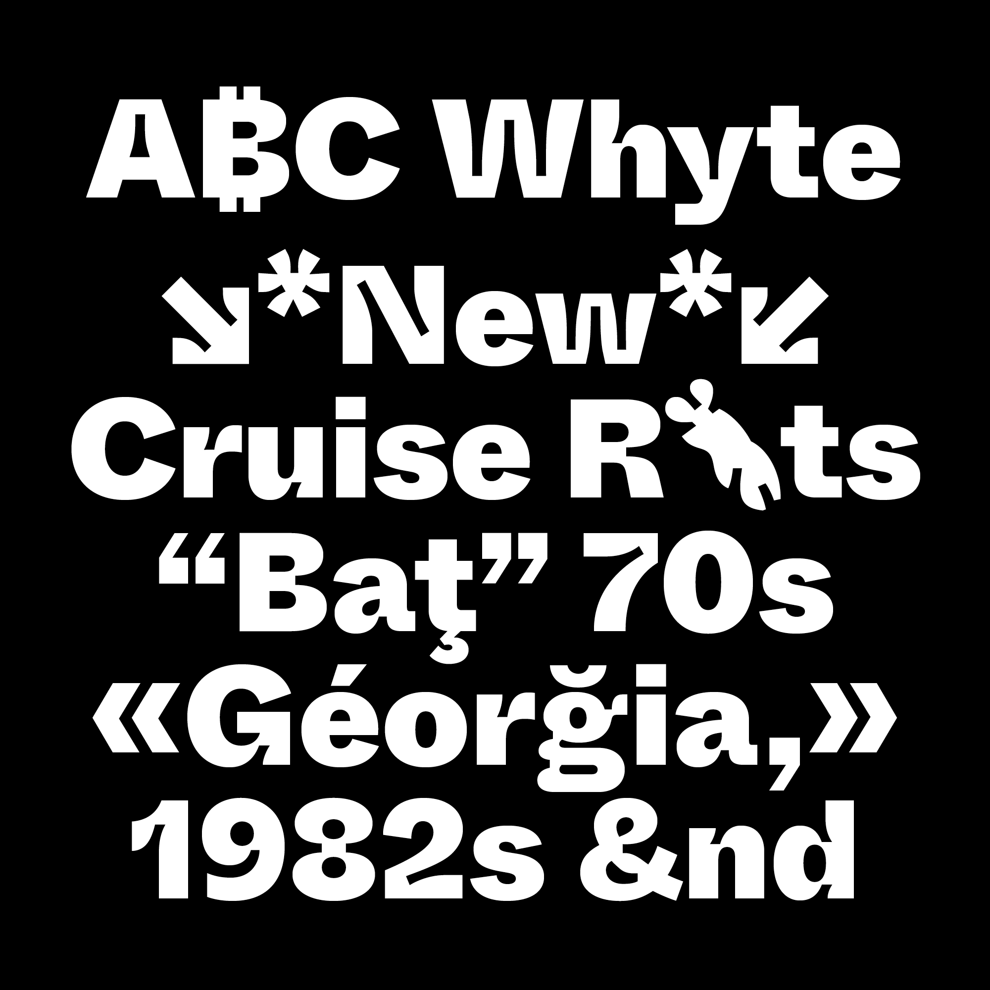 Whyte fonts