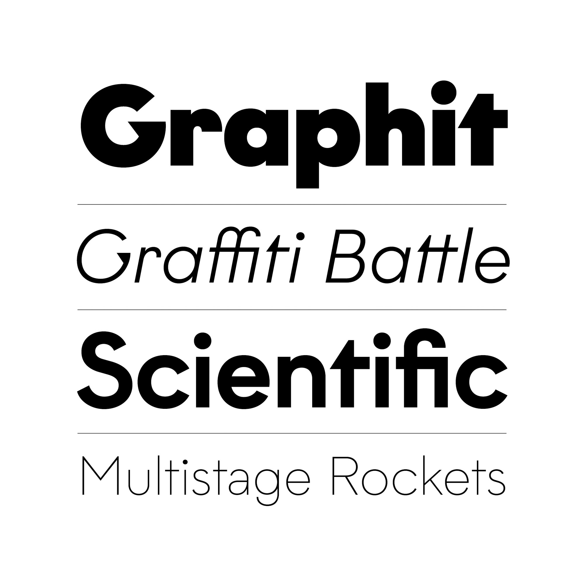Graphit fonts