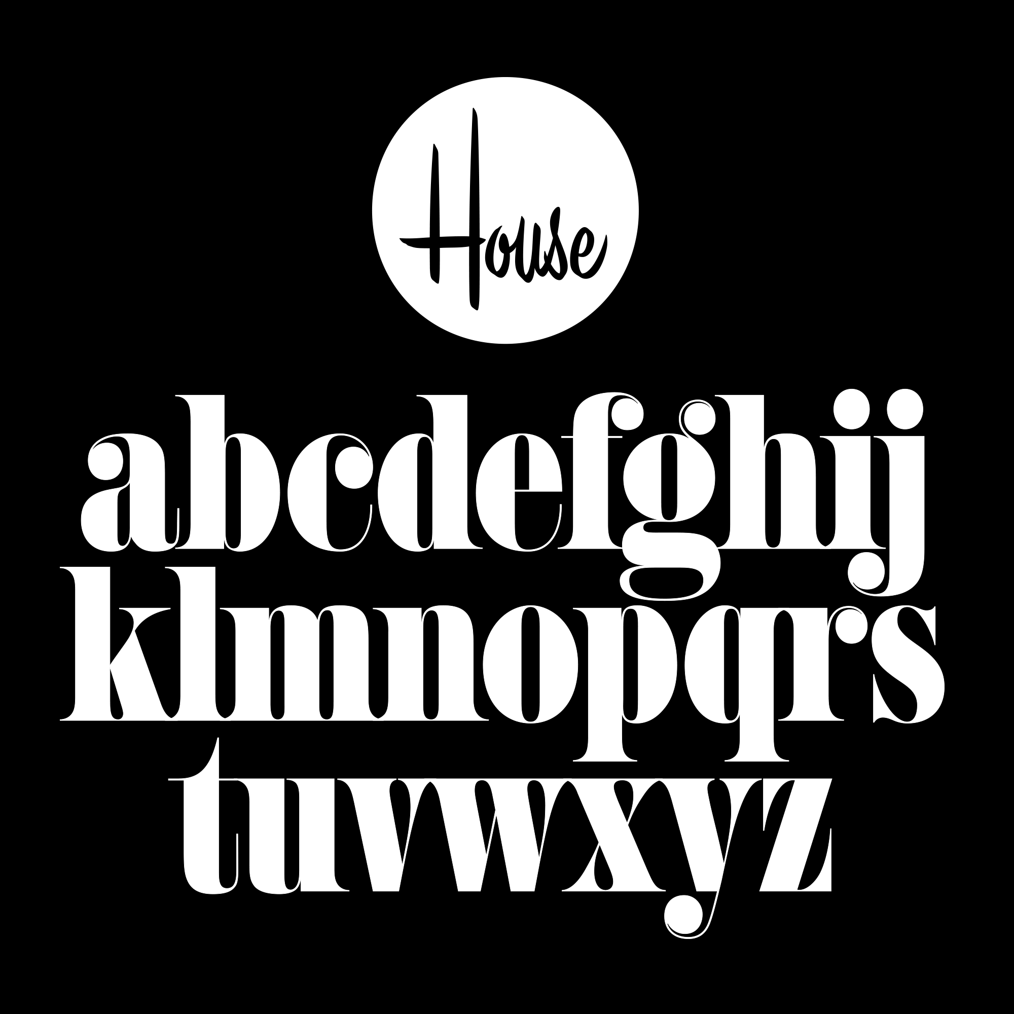 House Montage fonts