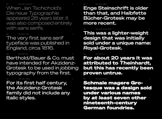 Söhne Breit: eight weights with matching italics.