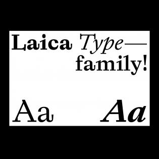 Laica fonts specimen