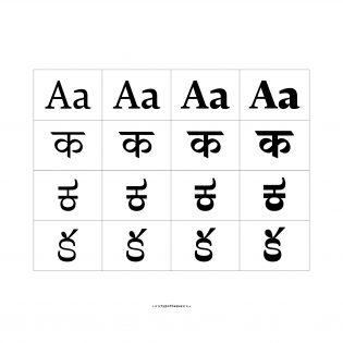 Lava Latin, Devanagari, Kannada, Telugu