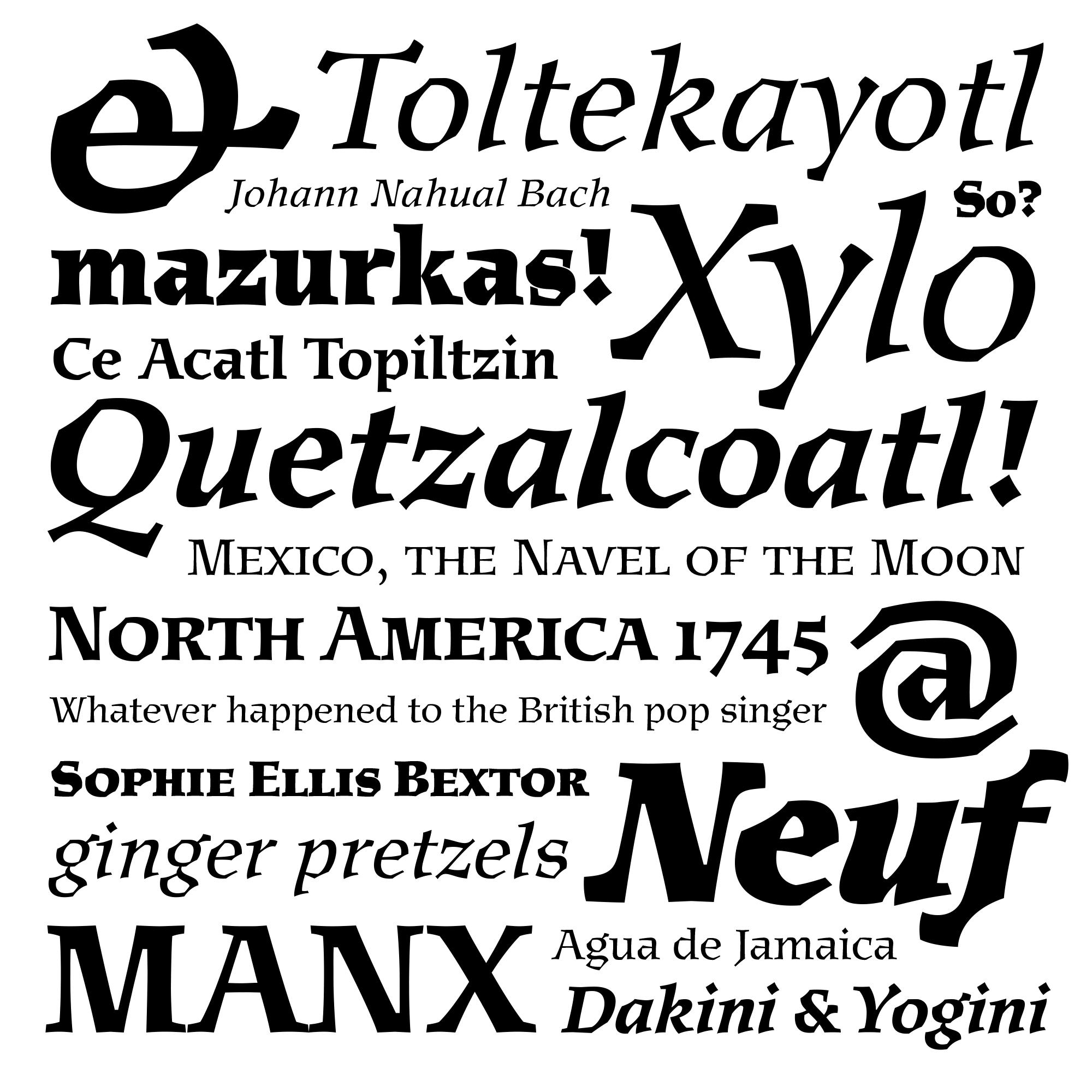 Mexica fonts specimen