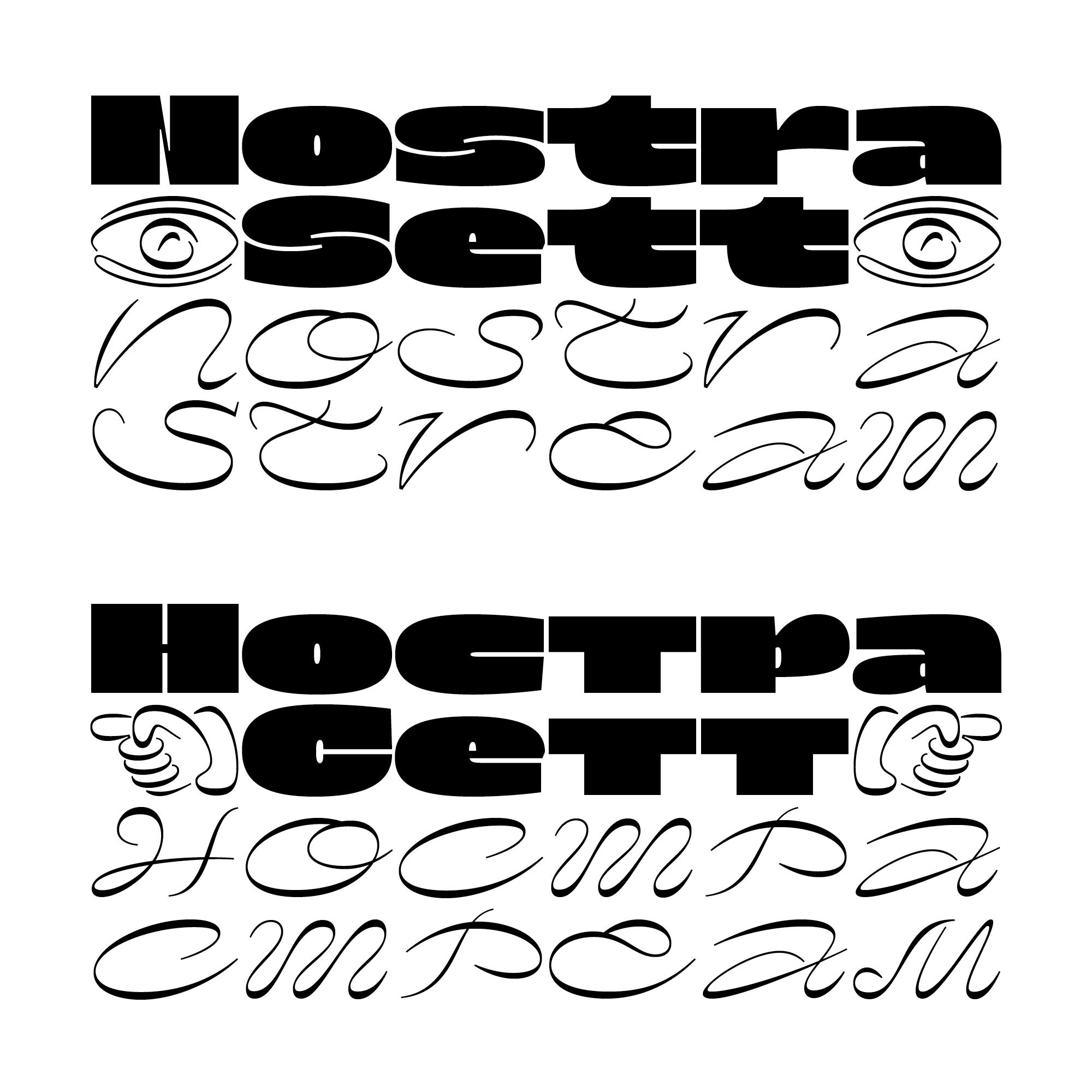 Nostra fonts specimen