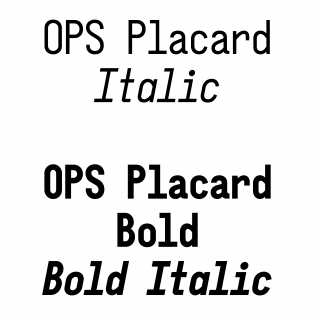 OPS Placard