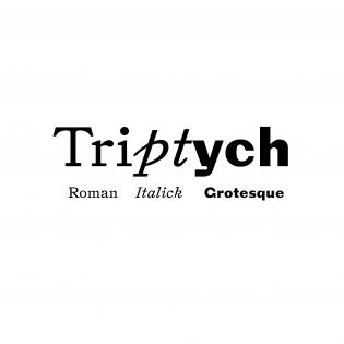 Triptych fonts specimen