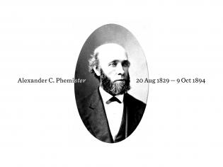 A portrait of Alexander Phemister, Miller & Richard's prime punchcutter