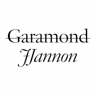 JJannon font specimen