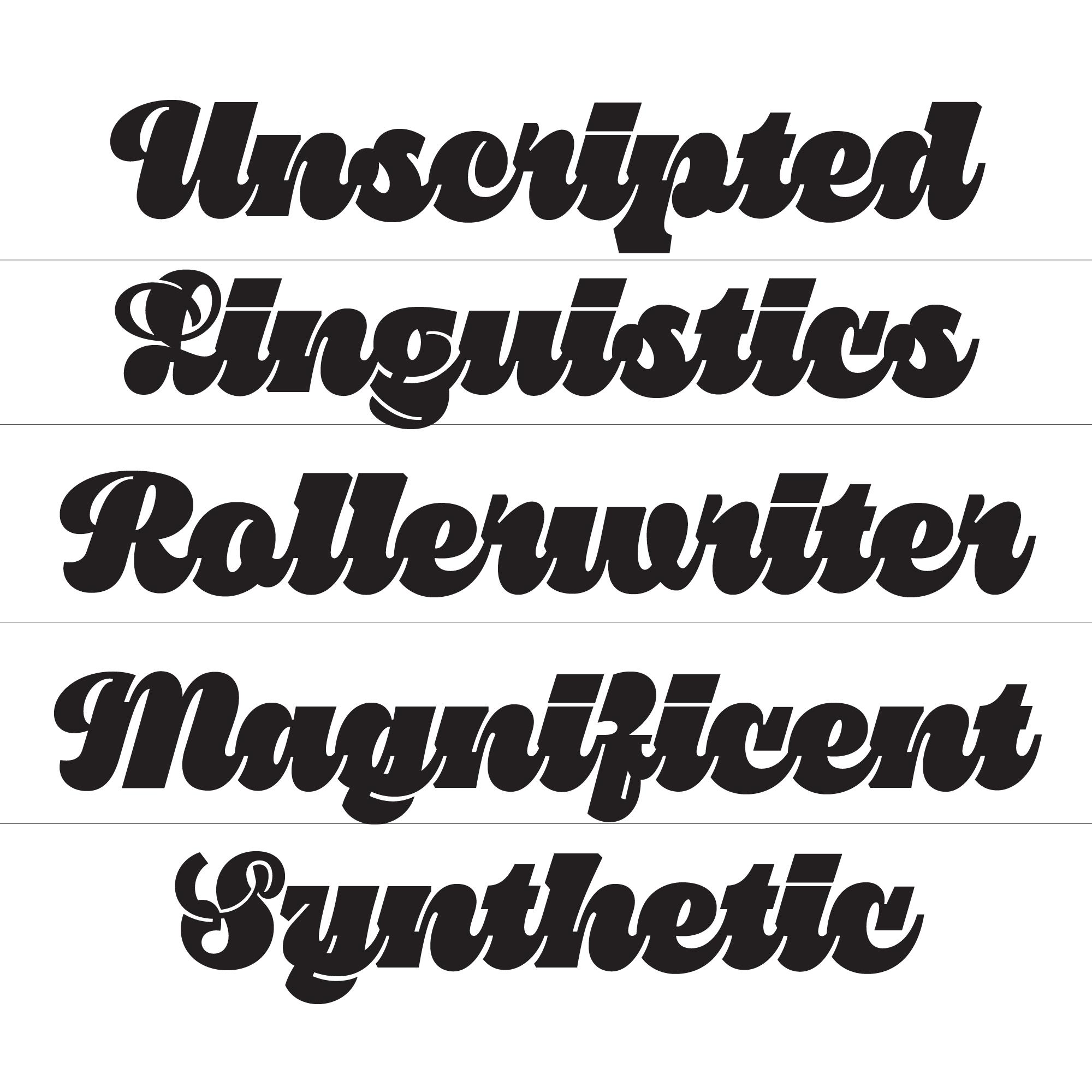 Pika Ultra Script font specimen