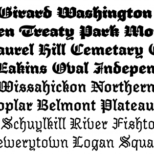 Elfreth fonts specimen